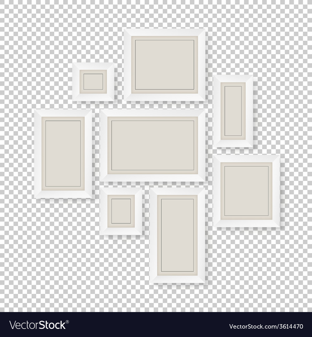Group of white frames vector image