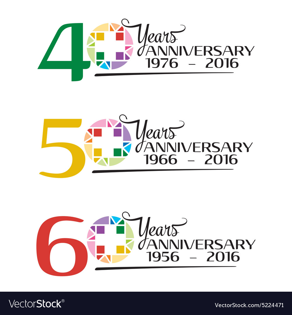 Hospital anniversary colorful symbol royalty free vector