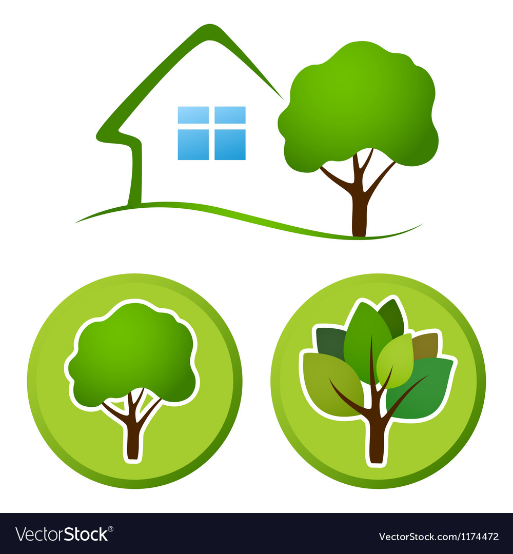 Tree emblem vector image