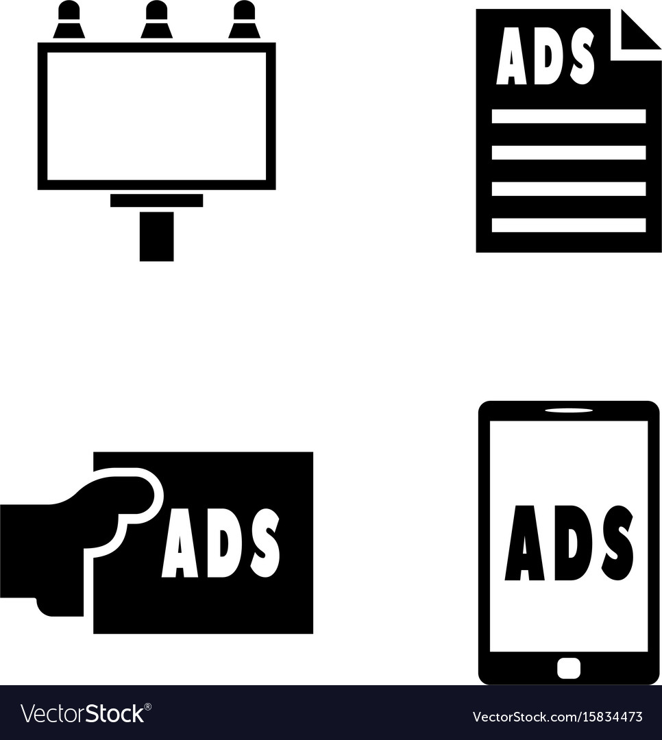 Advertisement simple related icons vector image