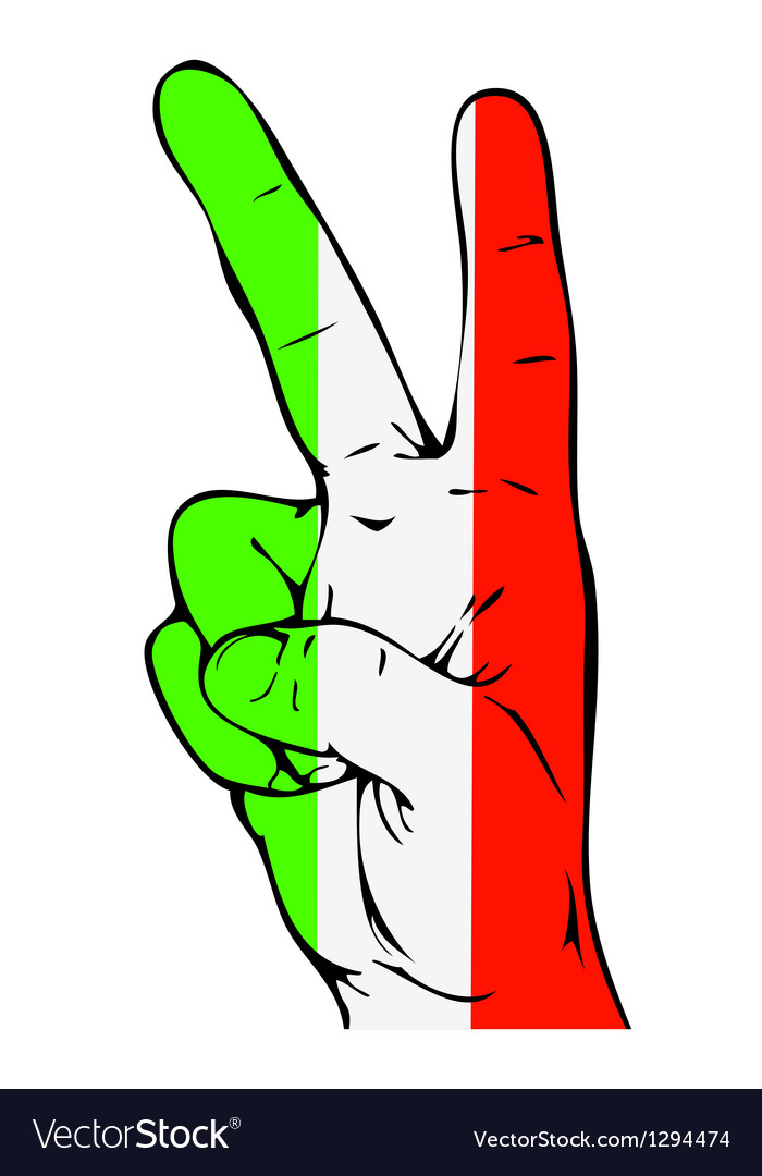 Peace Sign of the Italian flag vector image