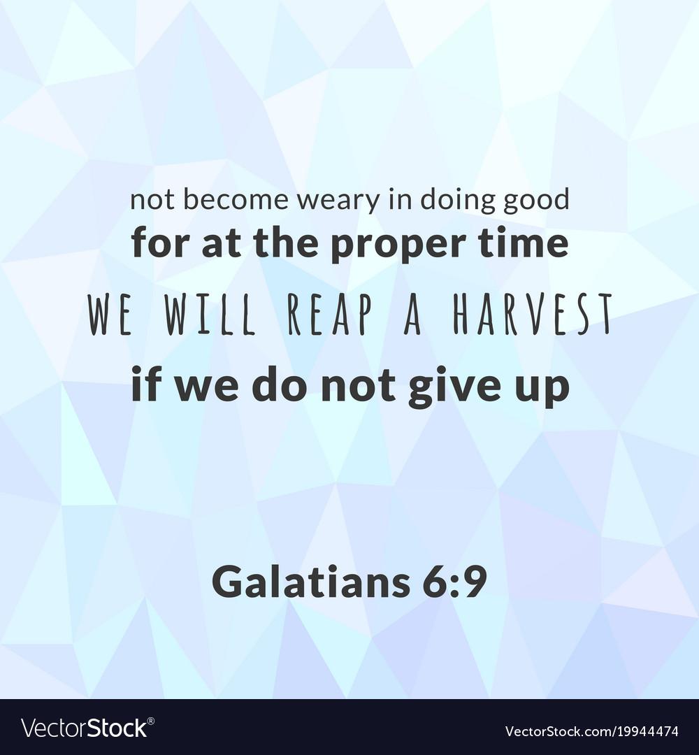 Bible verse from galatians vector image