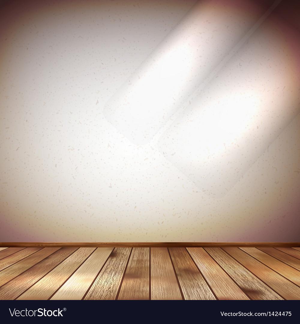 Light wall with a spot illumination EPS 10 vector image