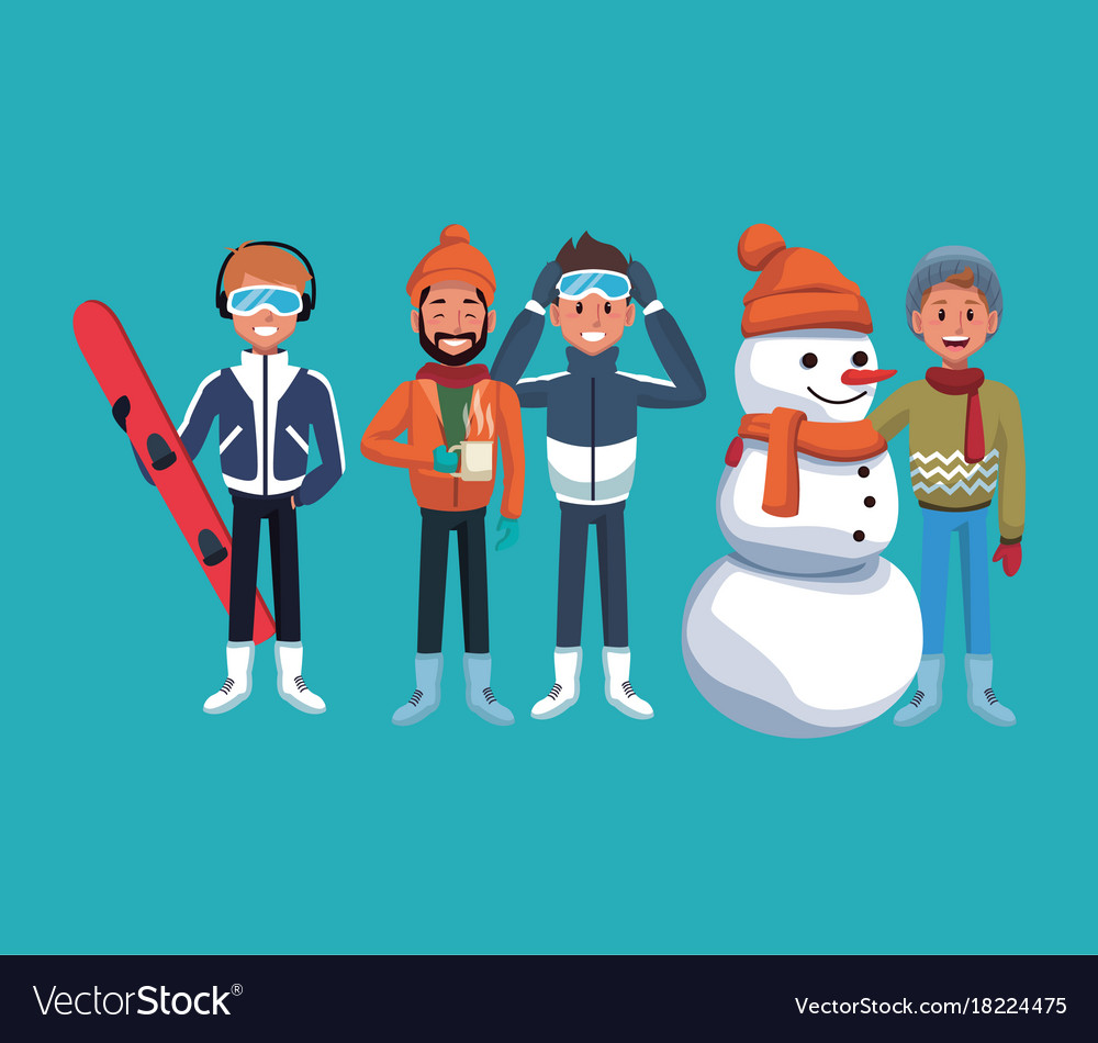 Man winter extreme sports vector image