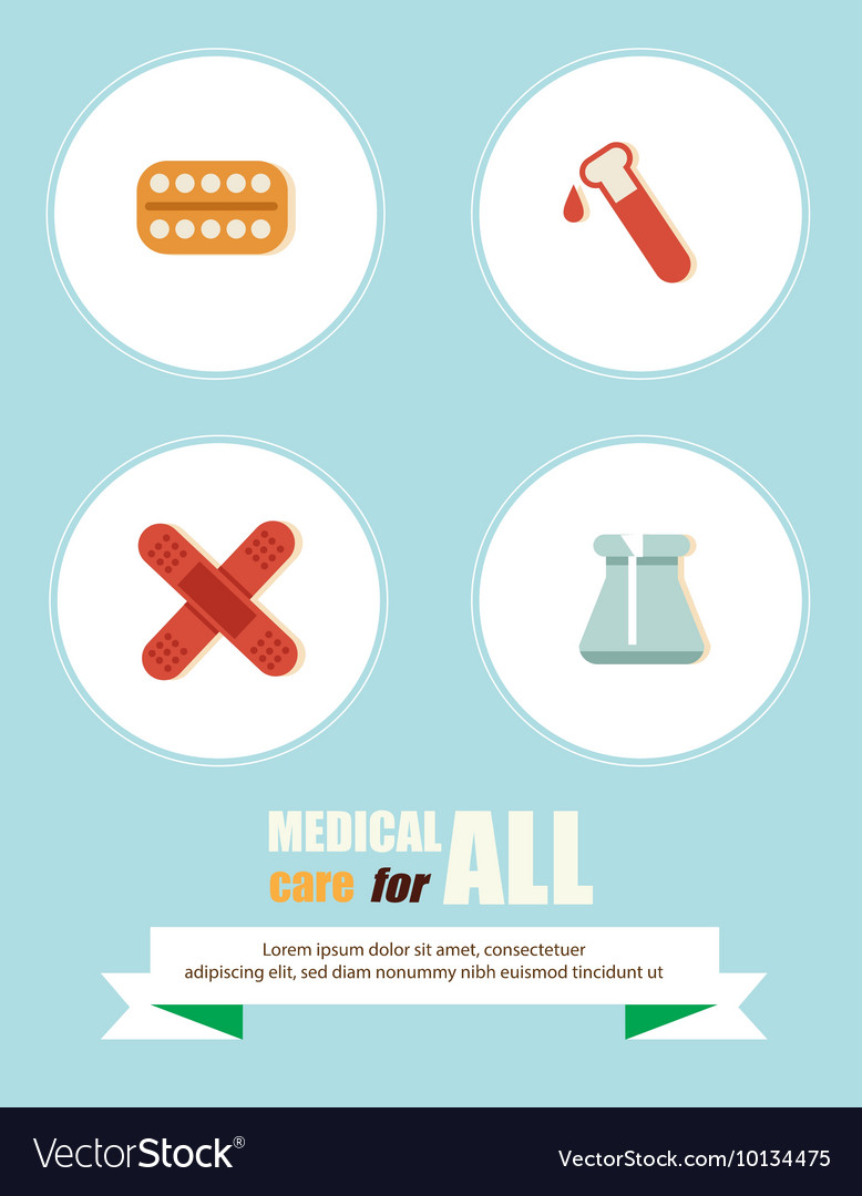 Medical with infographic elements