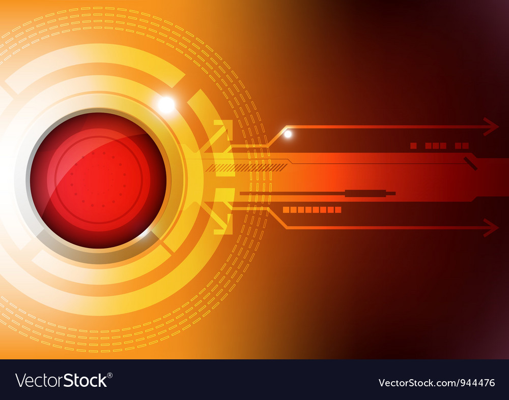 Modern button technology concept vector image