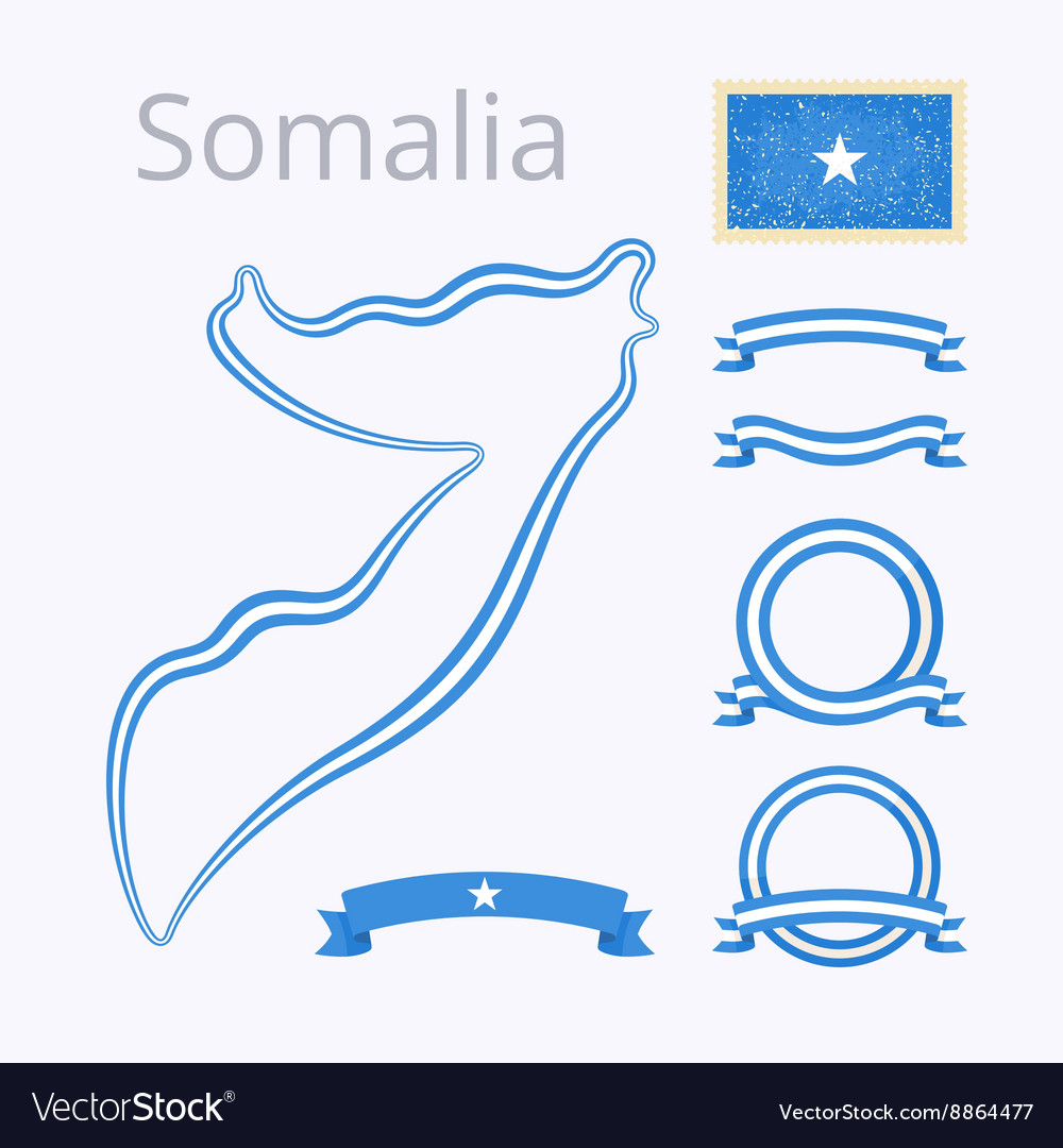 Colors of Somalia vector image