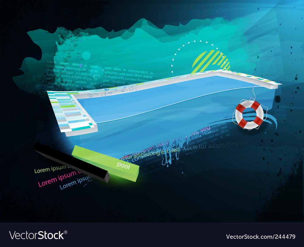 Grunge swimpool design vector image