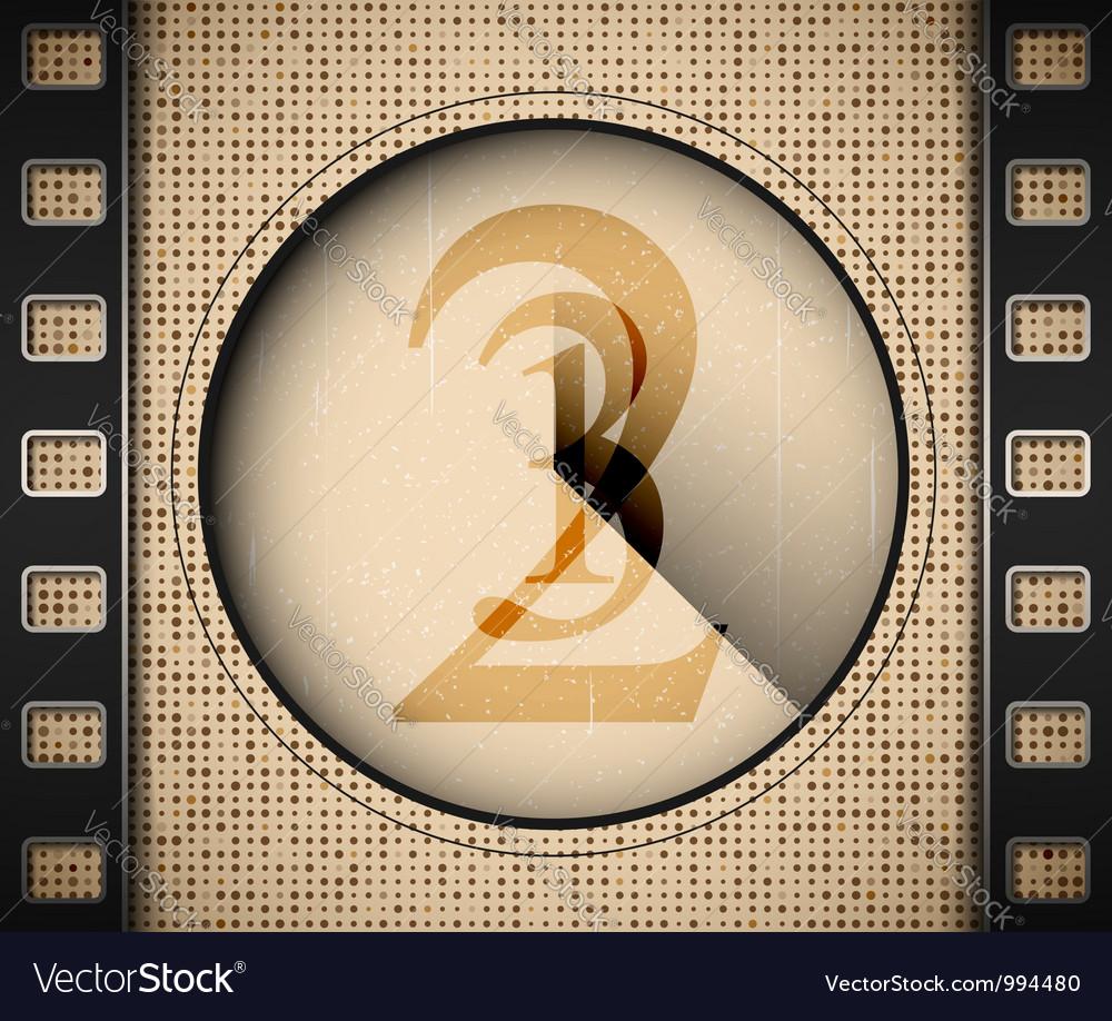 Start the film vector image