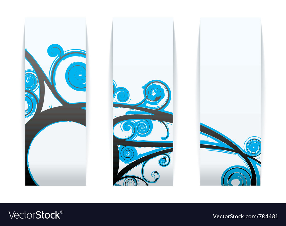 Modern gothic style elements vector image
