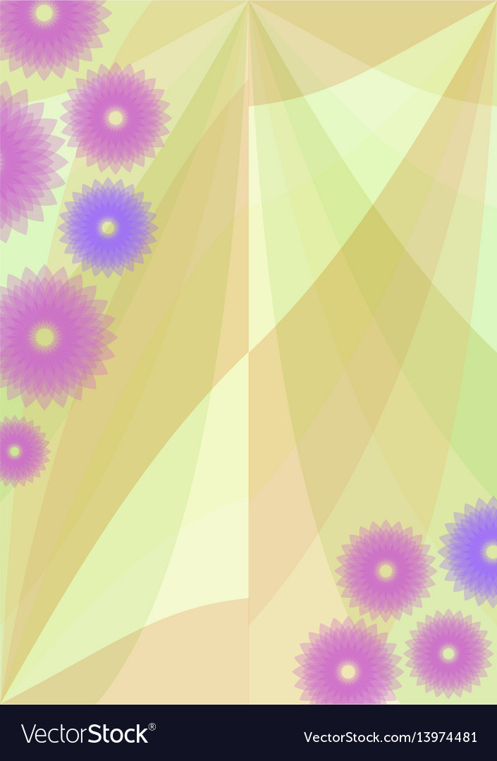 Spring background with cute purple flowers vector image