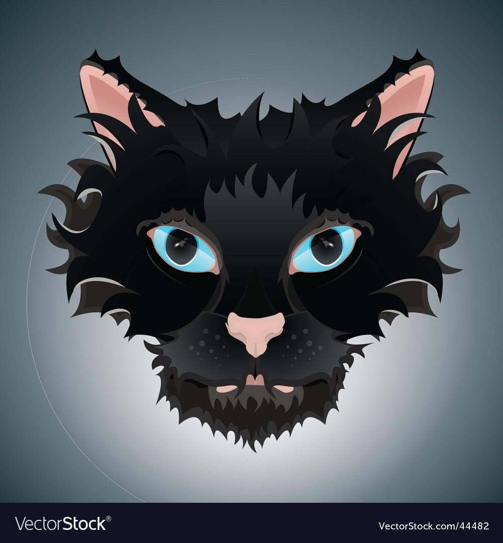 Cute cat face Royalty Free Vector Image VectorStock