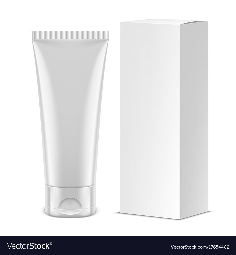 White tube mockup vector image