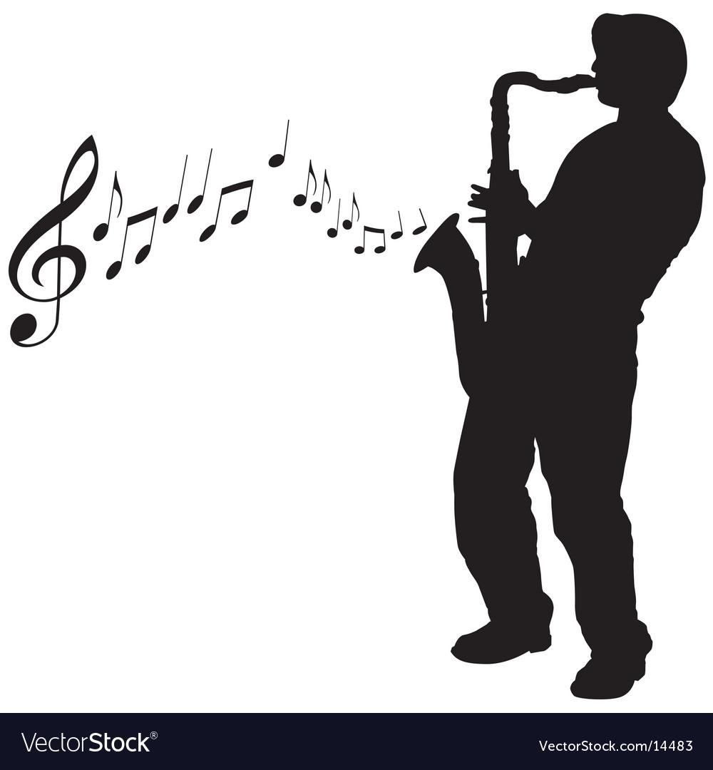 Sax guy vector image
