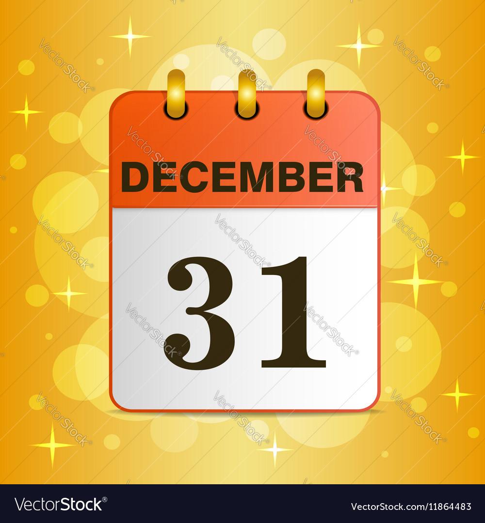 Sheet Desktop calendar on a yellow background vector image