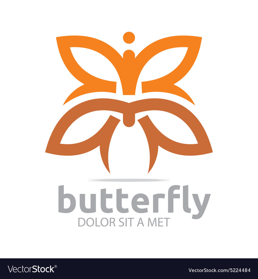 Butterfly leaf brown insect spring symbol vector image biocorpaavc Image collections