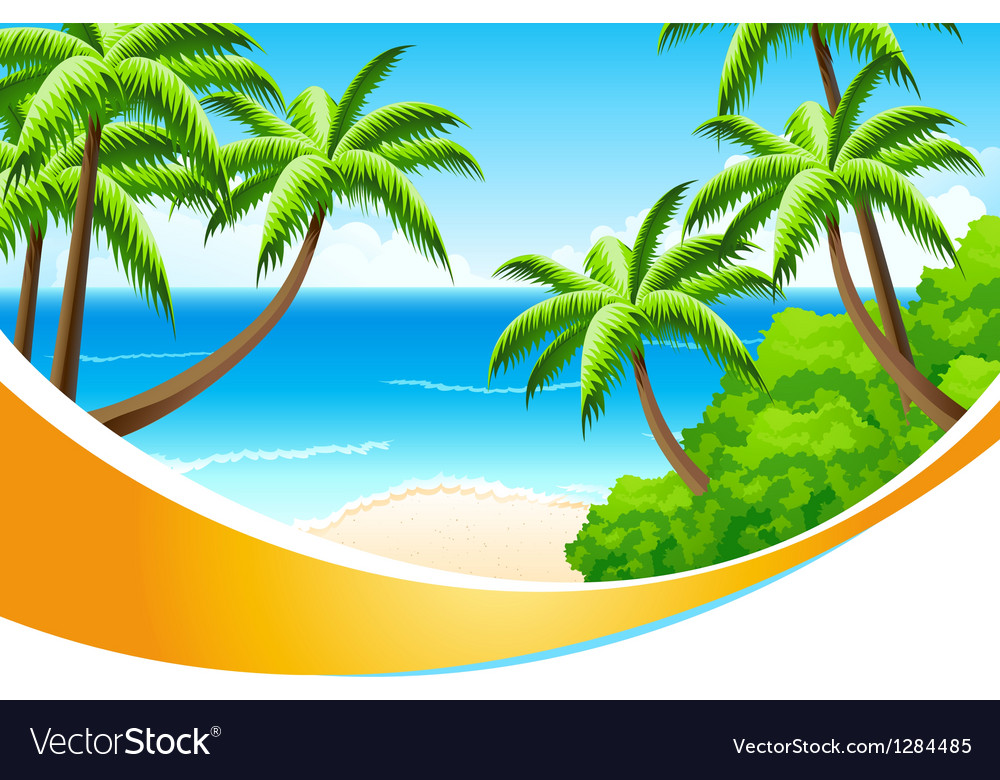 Background Summer Vacation vector image