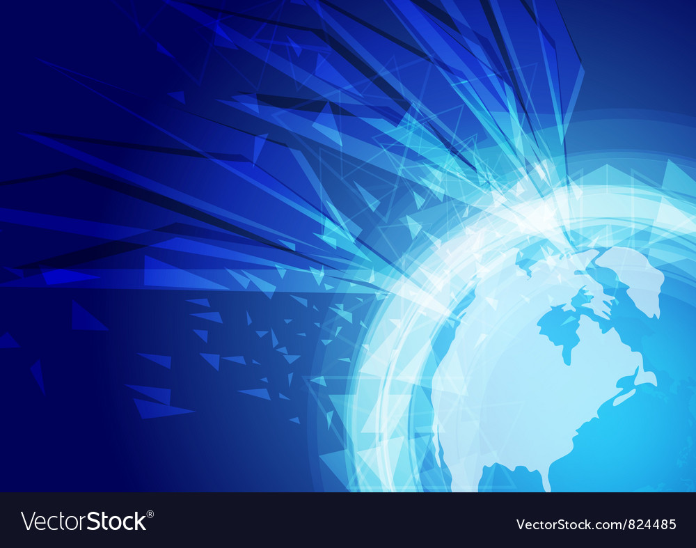 World abstract background vector image