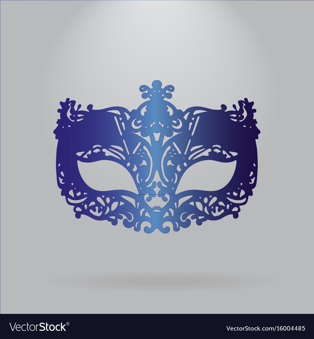 Blue carnival mask mardi gras vector image