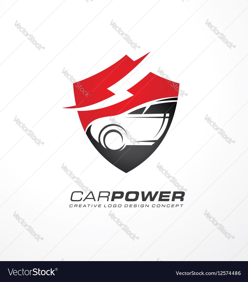 Auto electric logo design vector image