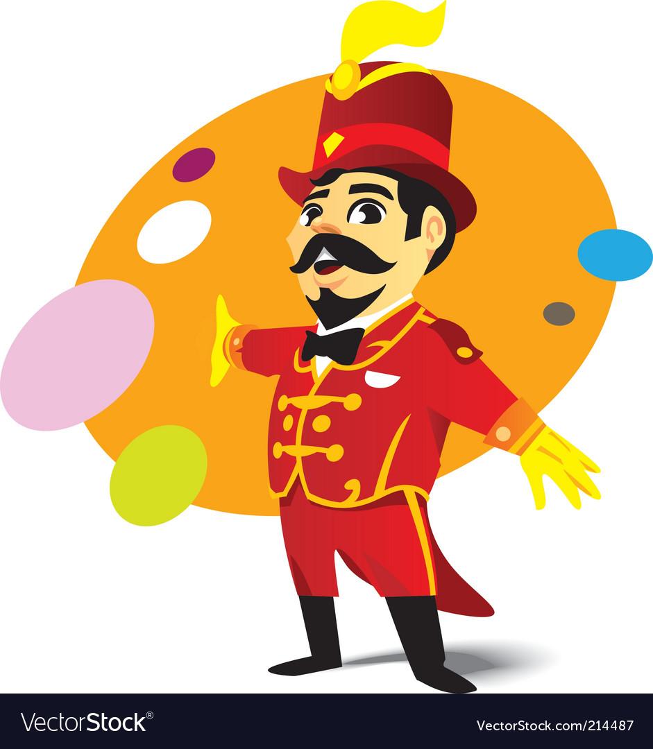 Circus ringmaster vector image
