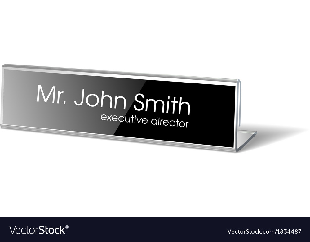 Name holder for events vector image