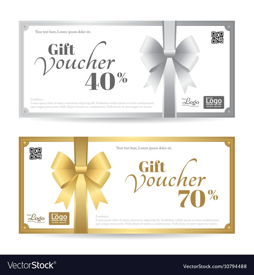 elegant gift card or gift voucher template vector image by elegant gift card or gift voucher template vector image