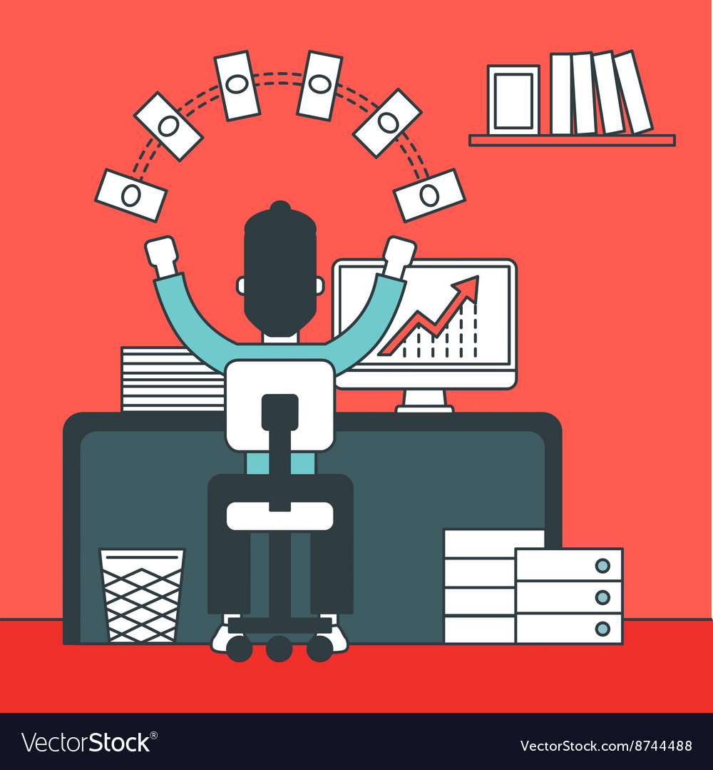 Successful development of business vector image