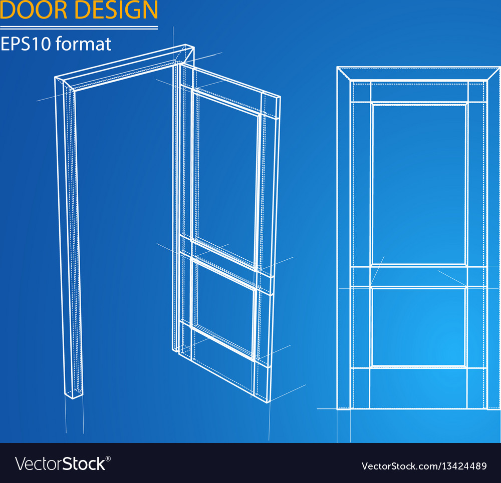 Design and manufacture of doors vector image