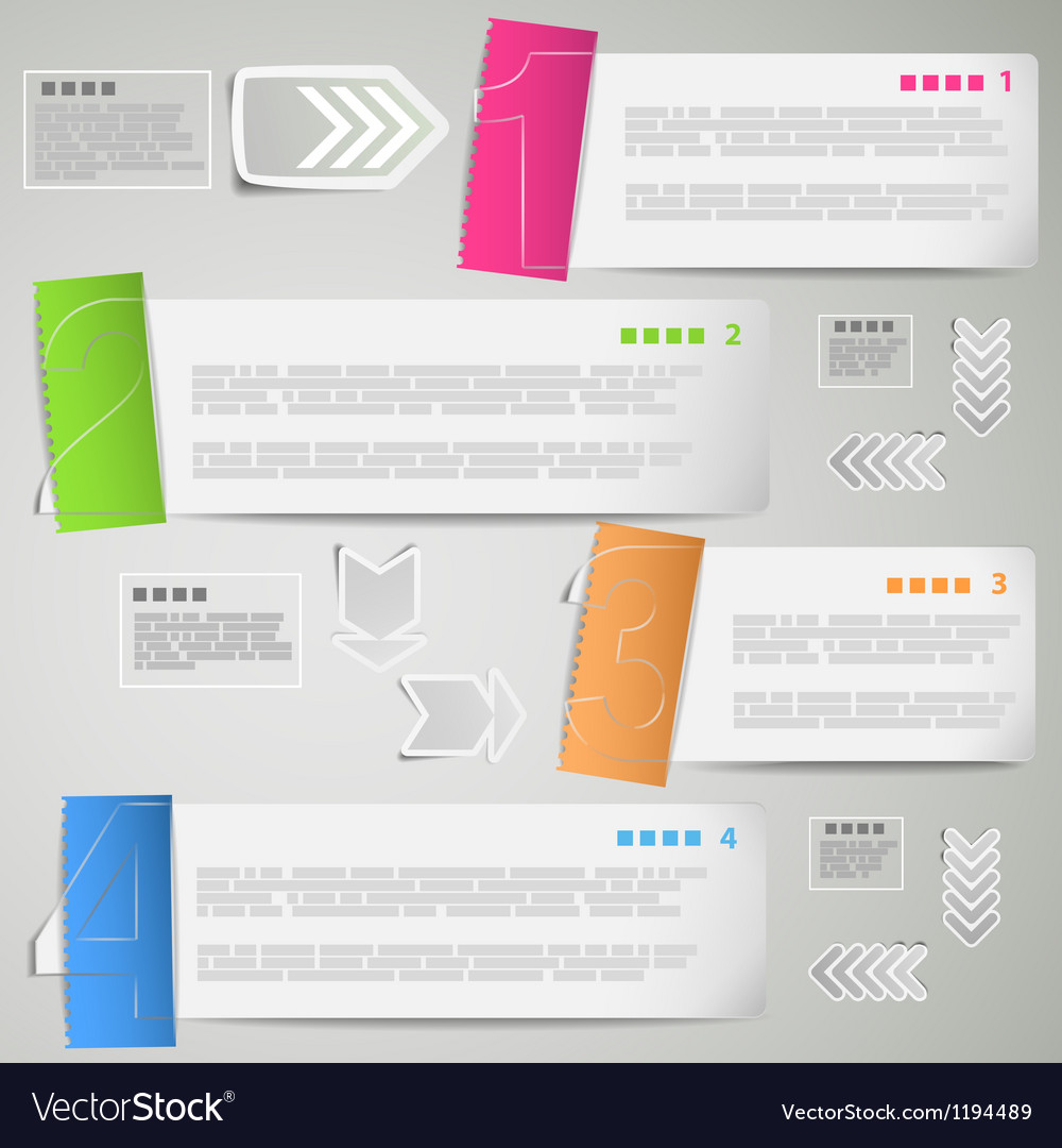 Paper strips for data presentation vector image