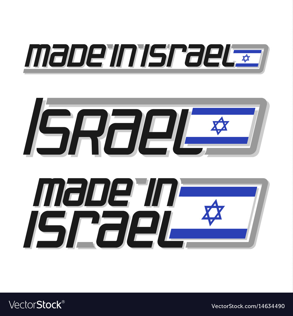 Made in israel vector image