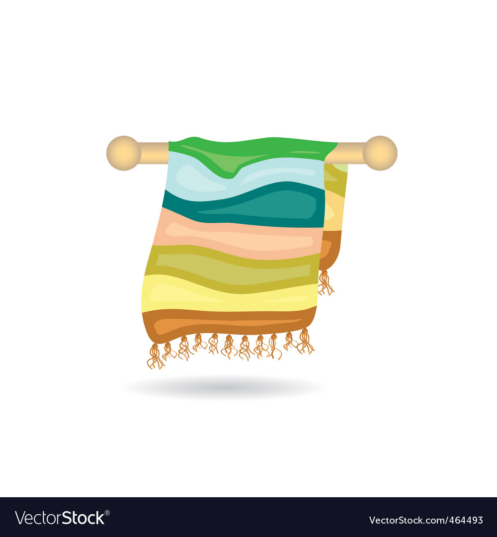 Towel icon vector image