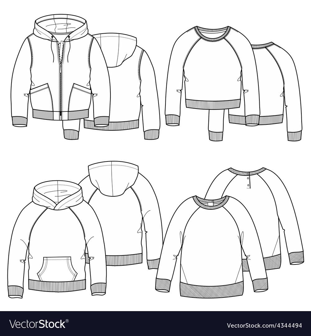 Girls hoodies vector image
