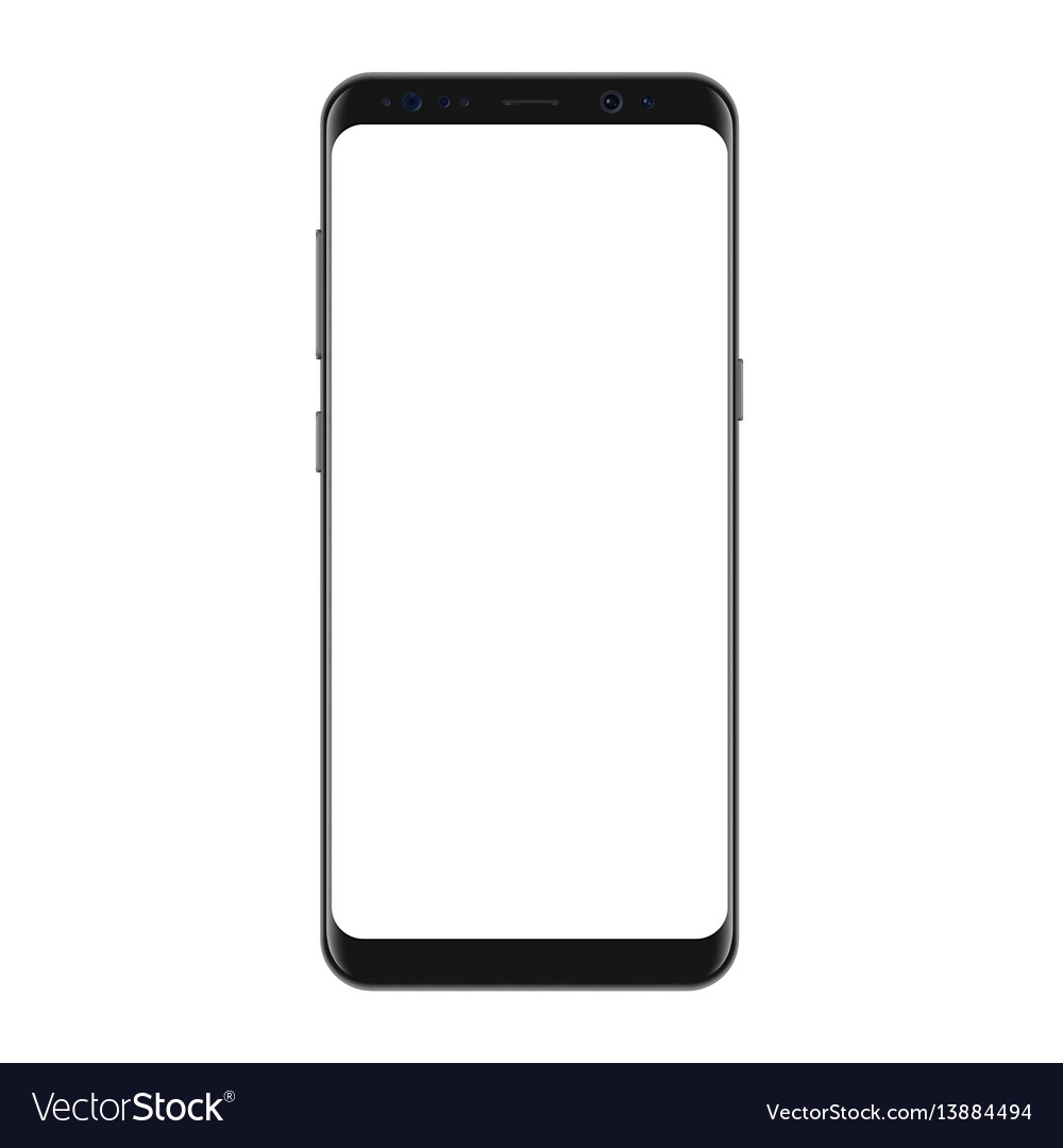 New version of modern smartphone with blank vector image
