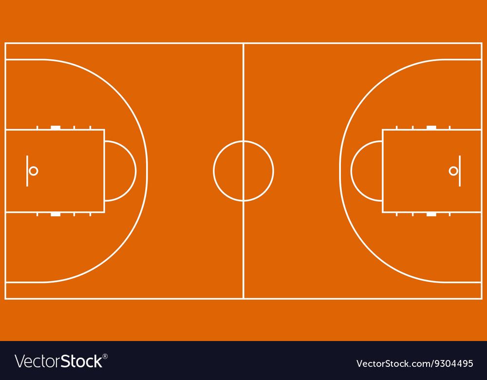 Basketball field for design vector image