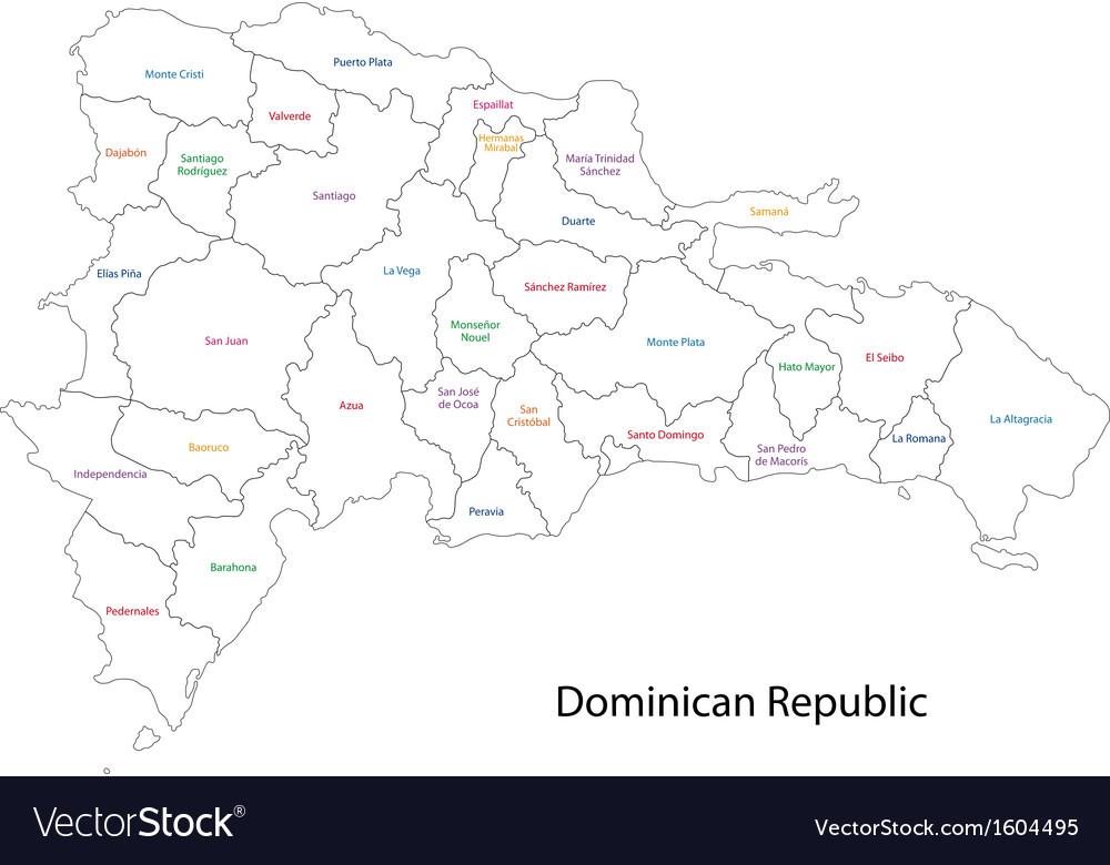 Hispaniola Map Vector Images - Dominican republic map vector