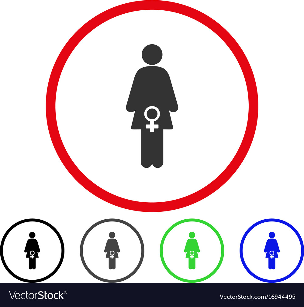 Female fertility rounded icon royalty free vector image female fertility rounded icon vector image biocorpaavc