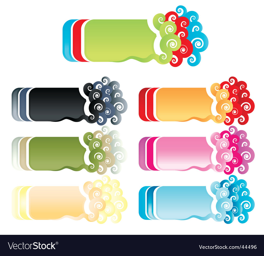 Funky retro retail banners vector image