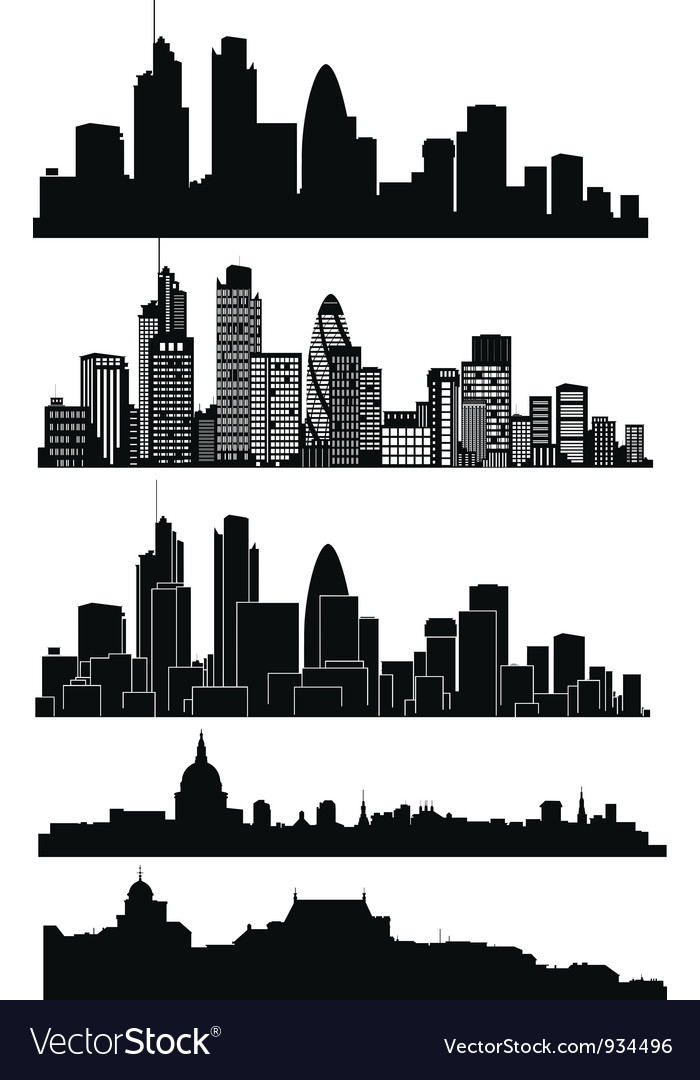 London skyline vector image