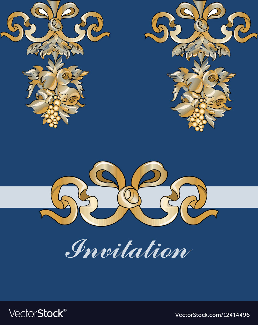 Royal floral classic ornament invitation vector image stopboris Image collections