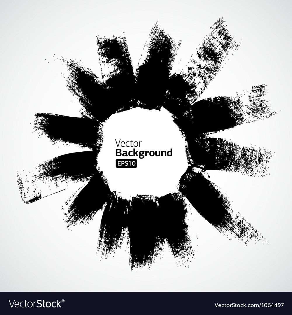 Abstract ink grunge background vector image