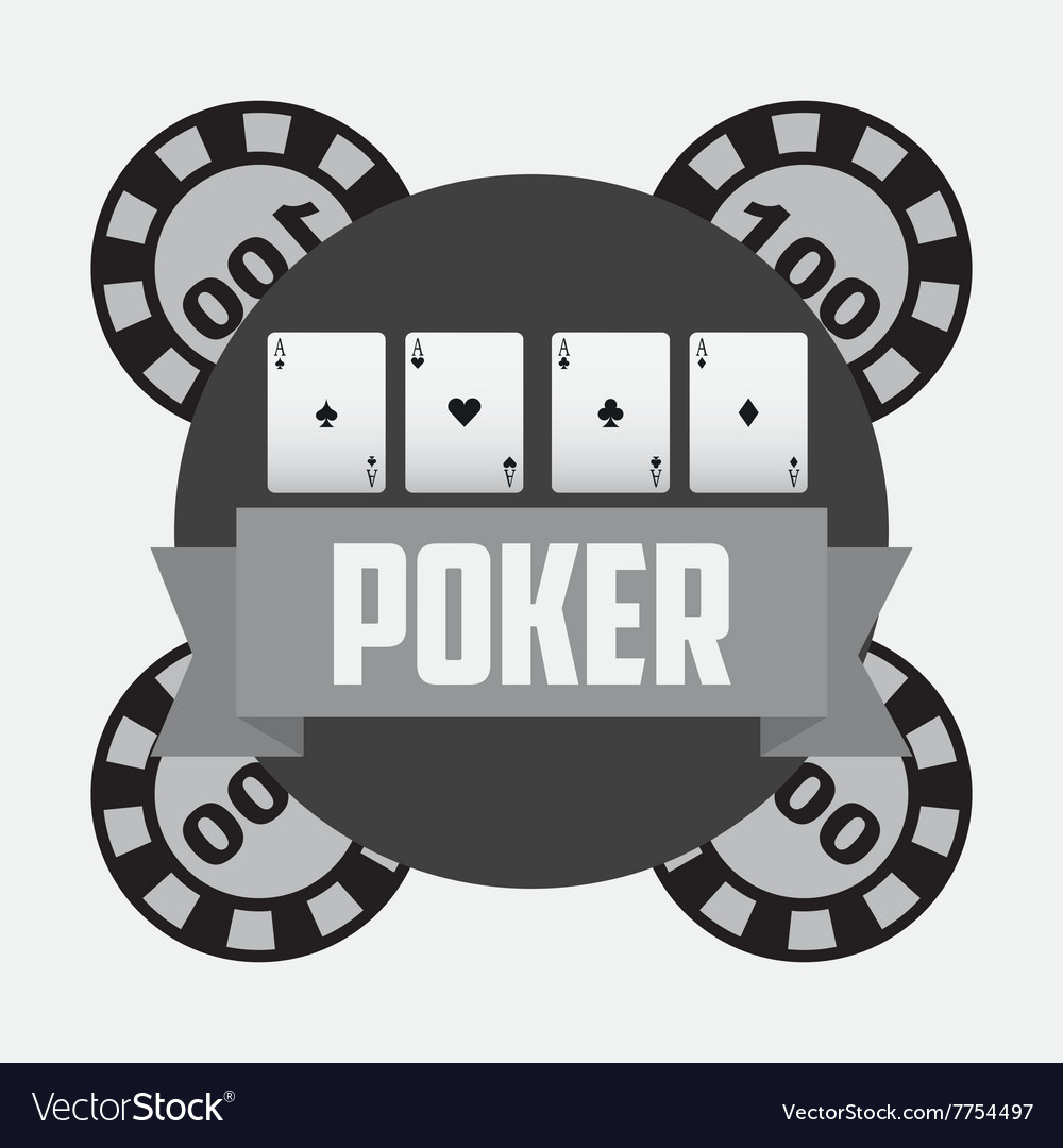 Casino club design vector image