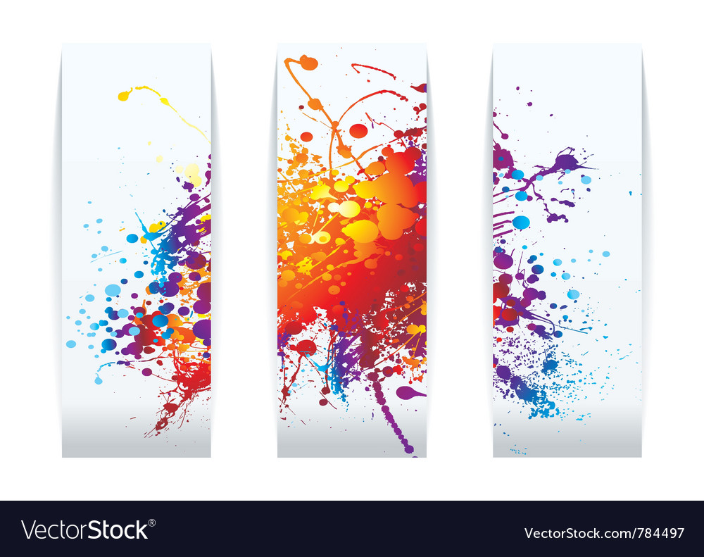 Raibow ink splat vector image
