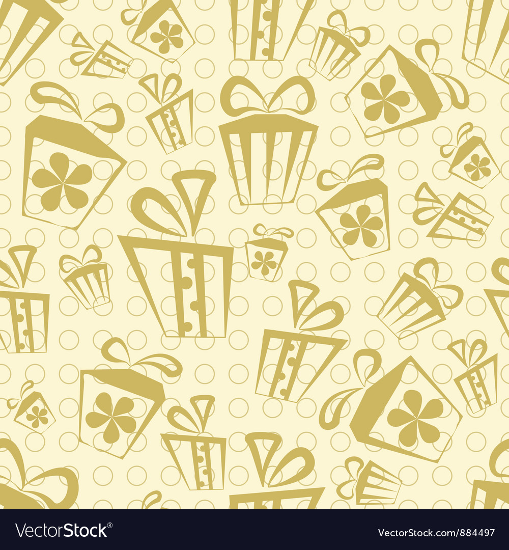 Seamless Gift Pattern vector image