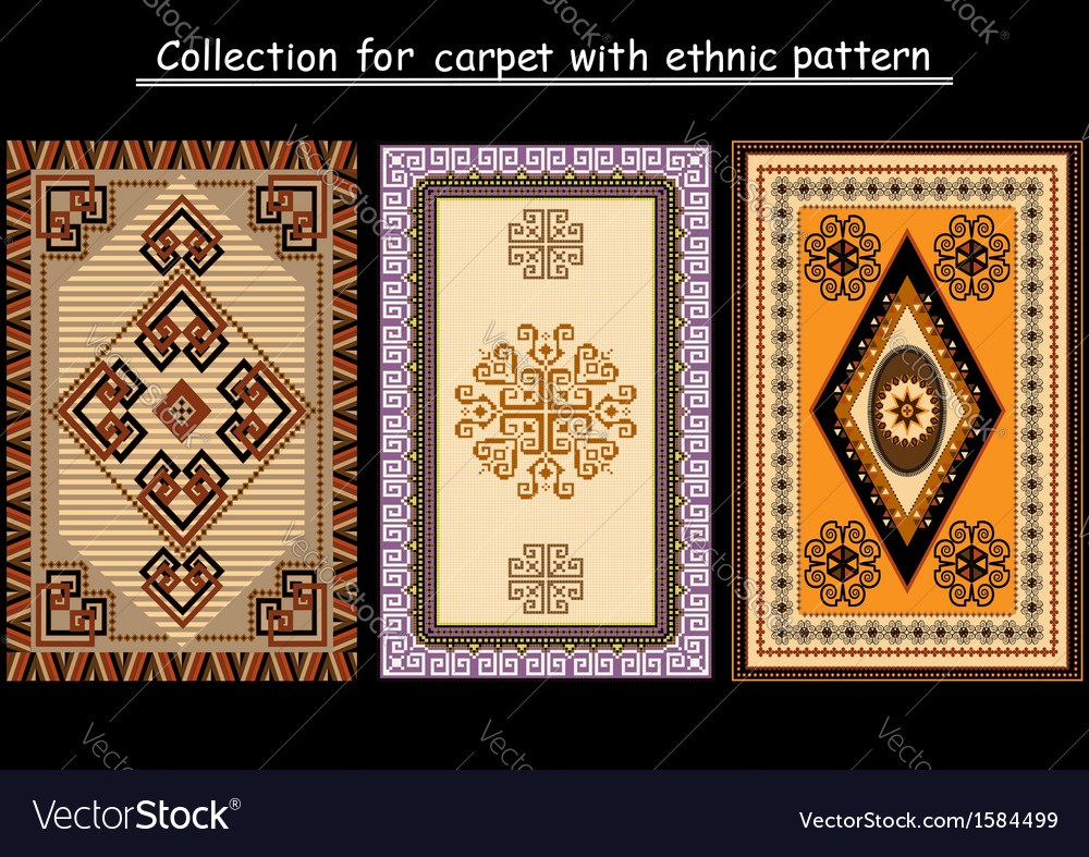 Collection for carpet vector image