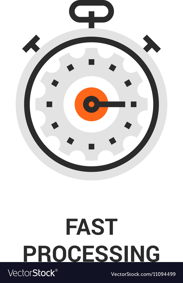Fast processing icon vector image