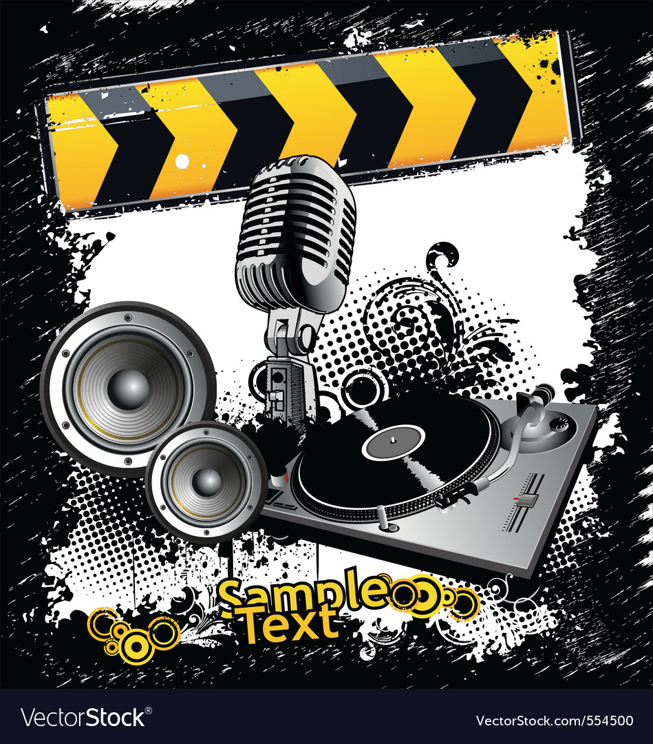 Grunge techno vector image