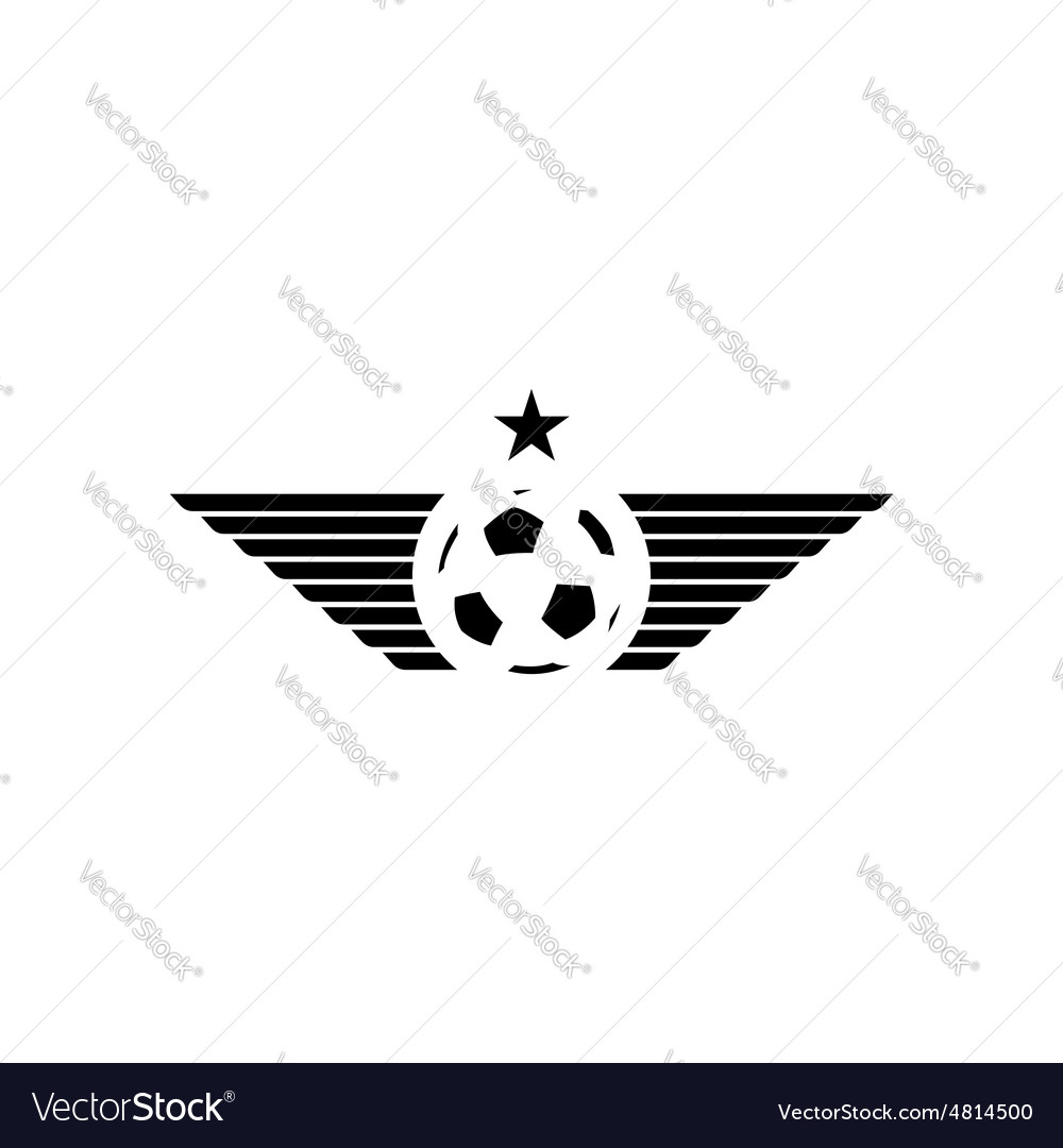 Football or soccer ball mockup sport logo design vector image
