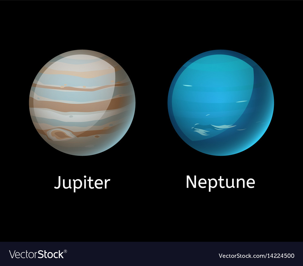 High quality jupiter galaxy astronomy neptune vector image