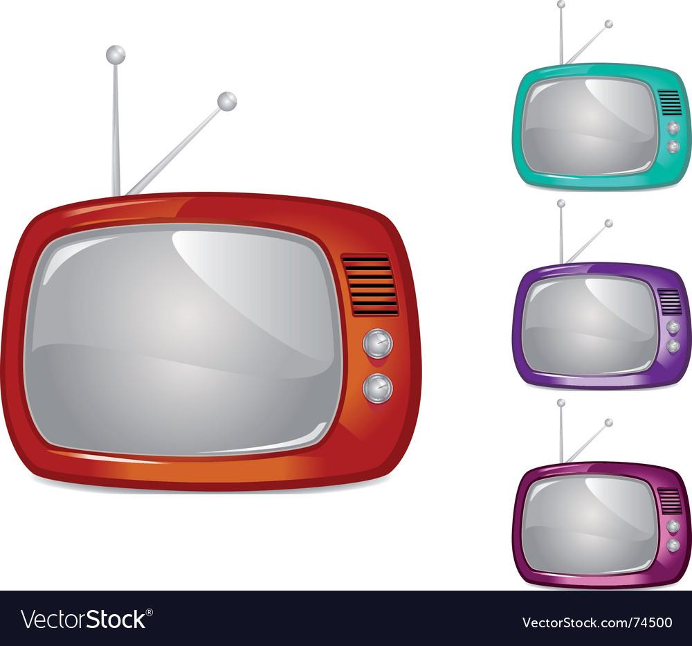 Retro television illustration global swatche vector image